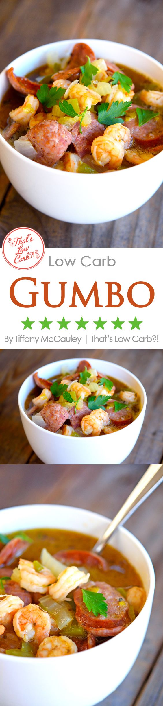 Low Carb Recipes | Low Carb Gumbo Recipe | Gumbo Recipes | Healthy Gumbo Recipe | Healthy Recipes ~ http://www.thatslowcarb.stfi.re