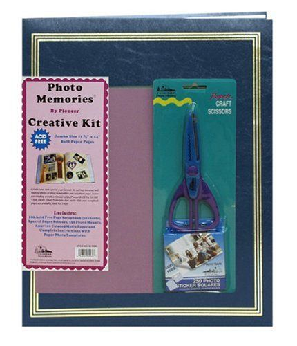 Pioneer 11 34 Inch by 14 Inch Jumbo Postbound 100 Page Memory Book Kit Navy Blue * Want additional info? Click on the image.