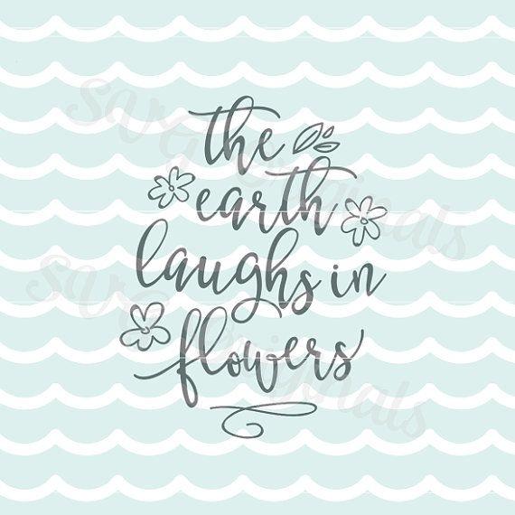 Primavera de Pascua la tierra ríe en flores SVG Vector archivo SVG. Cricut explorar y mucho más. Para imprimir. Pascua primavera flores tierra SVG