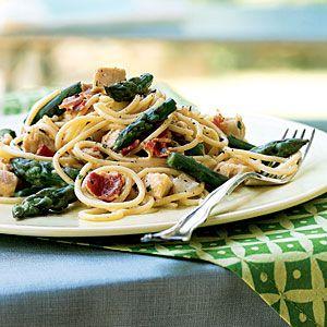 25 Best Pasta Recipes | Asparagus and Chicken Carbonara | CookingLight.com