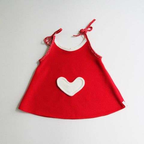 Heart Valentine Tunic Dress 002 -- 18months @ Willow-Pillow.com