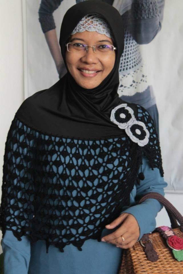jilbab rajut hitam