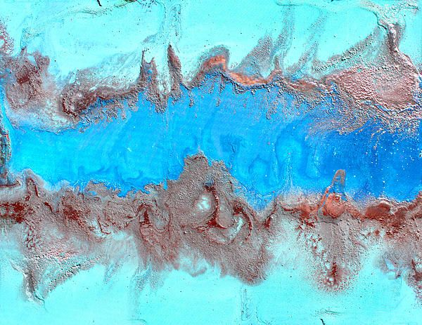 This image is print of original Hand-painted abstract painting ''Blue Lagoon'' by Julia Apostolova