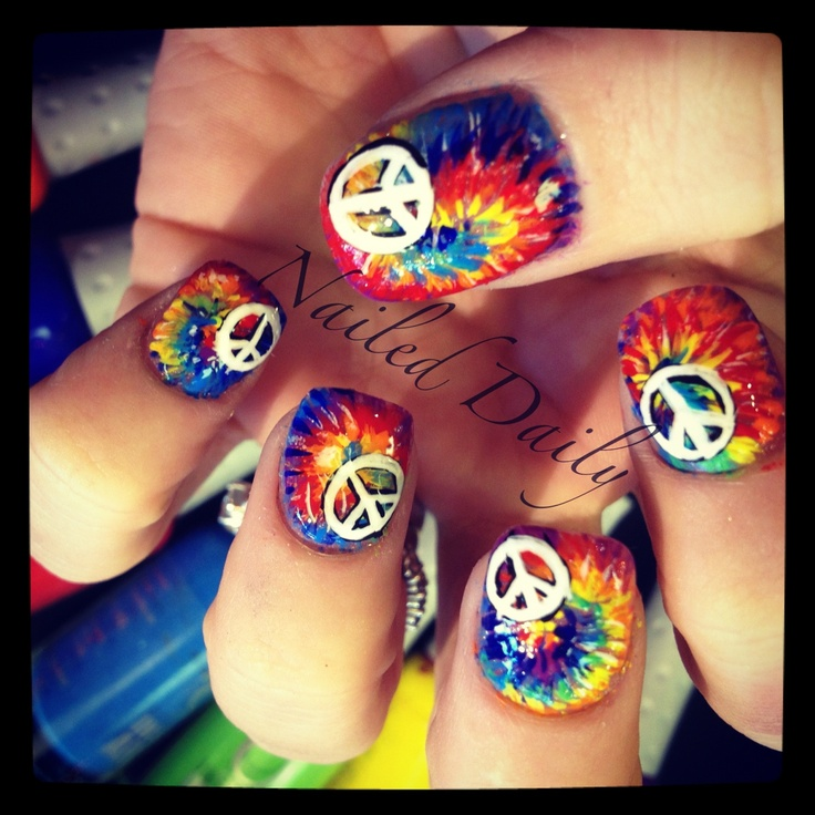 how to make tie dye nails
