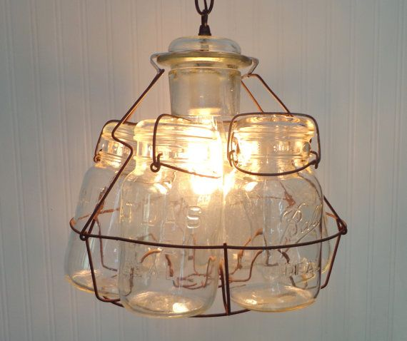203 Best Mason Jar Light Fixtures Images On Pinterest