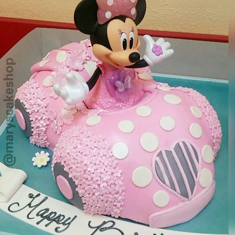 Minnie Mouse Car Cake Pinterest