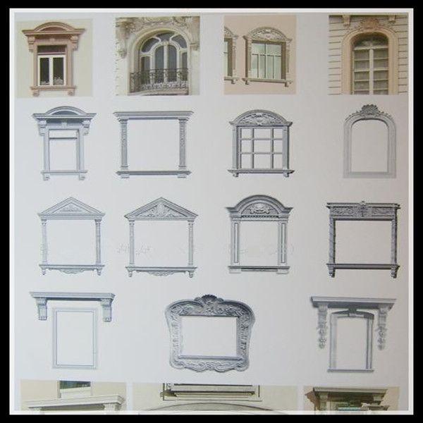 GRC Window frame ,window surround decoration moulding ...