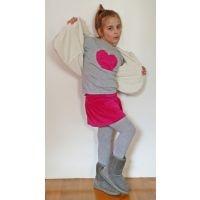 kiddysnest.gr -Brands :: Talin :: Μπλούζα γκρι με καρδιά φούξια by Talin - Παιδικά ρούχα, μωρουδιακά, παιχνίδια, διακόσμηση παιδικού δωματίου