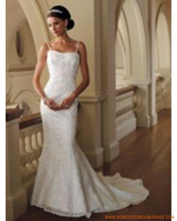 sirène à Lyon en dentelle avec bretelles fines  robe de mariée sur ...