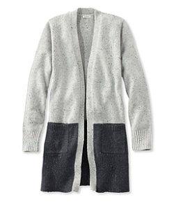 #LLBean: Donegal Sweater, Long Open Cardigan Colorblock