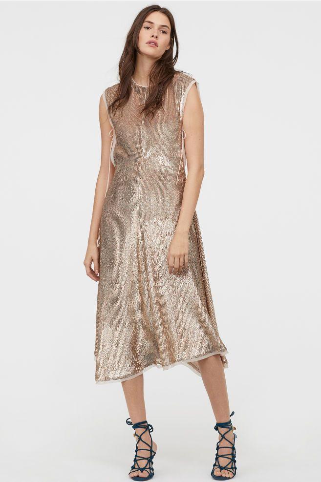 aa0f55ee H&M Sequined Dress - Beige in 2019 | 25. Apparel: dresses | Sequin ...
