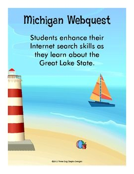 This two page printable web quest activity allows students to use their internet search and interpretation skills to learn more about Michigan.