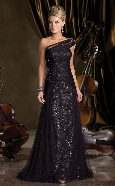 Ivonne D Hand Beaded Illusion Mother of the Bride Dress 212D73 at frenchnovelty.com