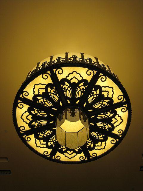 Art Deco Chandelier - Myer Emporium Mural Hall, Bourke Street, Melbourne by raaen99, via Flickr