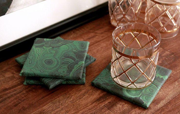 Malachite Coasters by Darby Smart | #madebyme