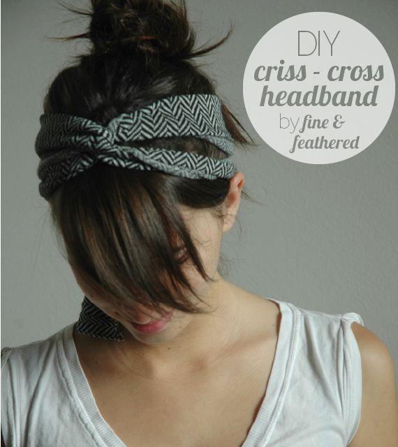 DIY: Criss-Cross Headband