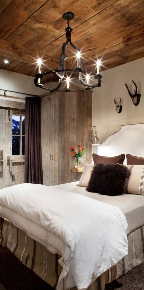 inspiring rustic bedroom ideas to decorate with style ceiling for basement guest room - Rustic Bedroom Decor Pinterest