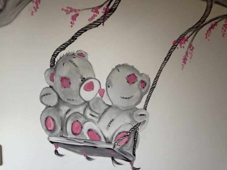 ... kinderkamer - Betaalbare muurschilderingen kinderkamers!  Pinterest