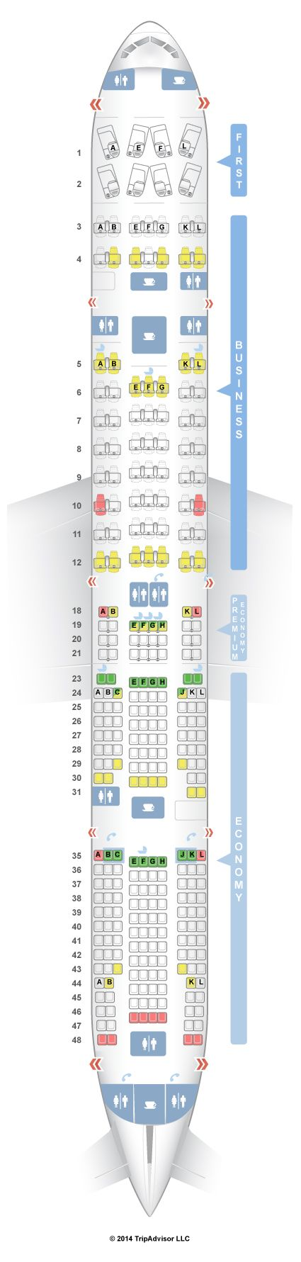 25 best ideas about boeing 777 300er seating on pinterest for Plan cabine 777 300er