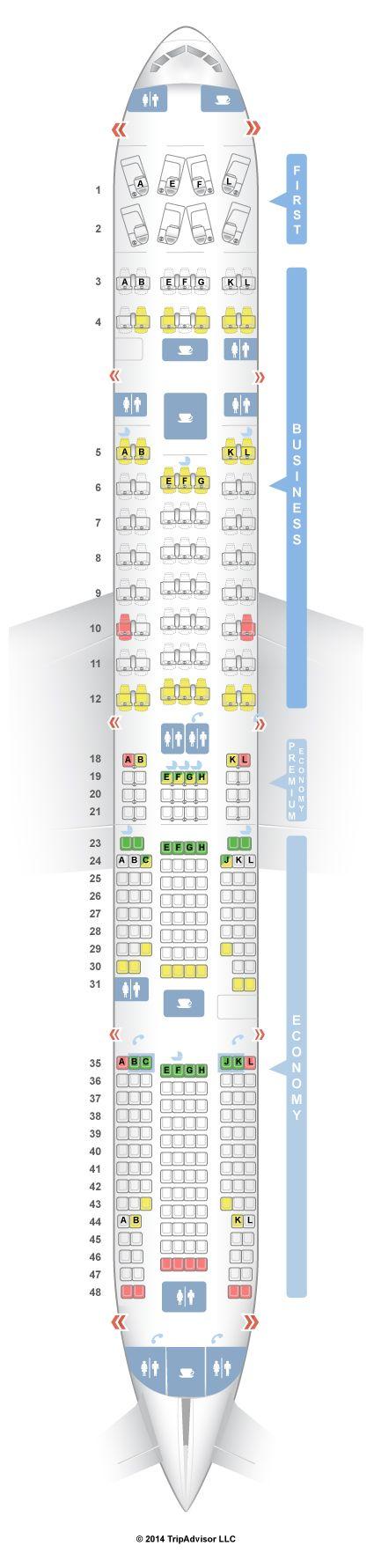 SeatGuru Seat Map Air France Boeing 777-300ER (77W) Four Class