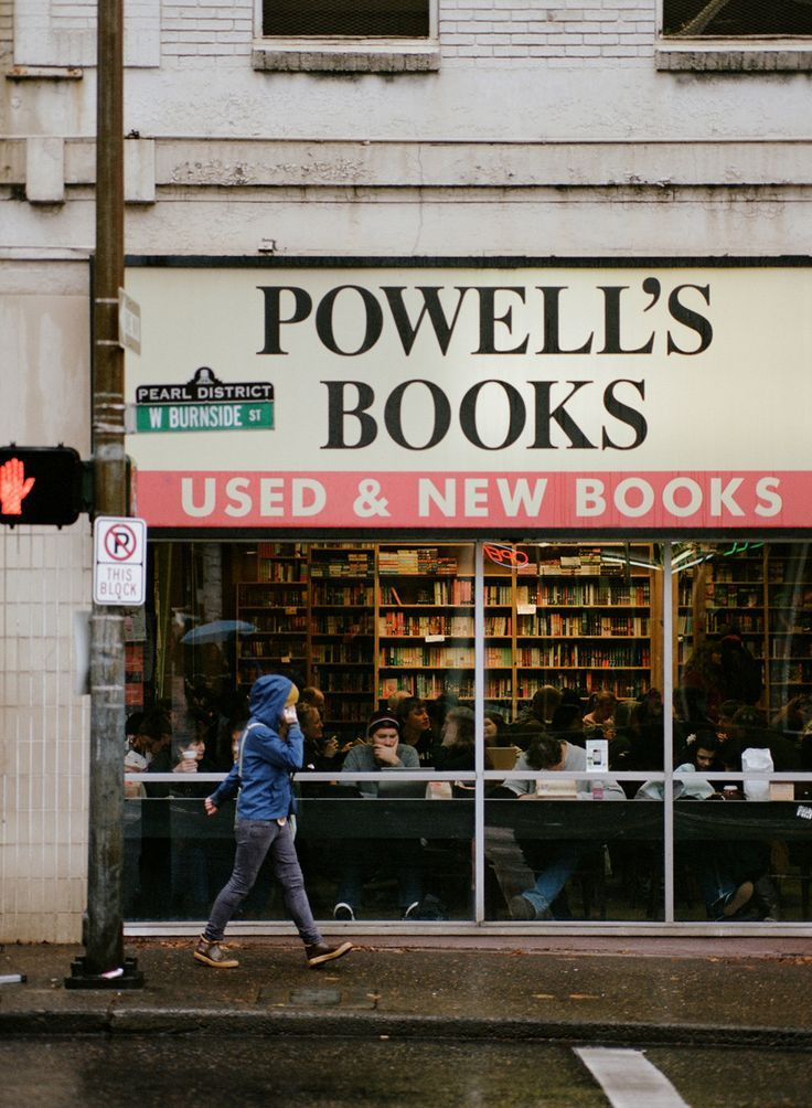 Powell's Bookstore, Portland, Oregon. I literally love this place so much. I spent three hours in there once and never went to the same section twice. It is so big. I can't wait to go back.