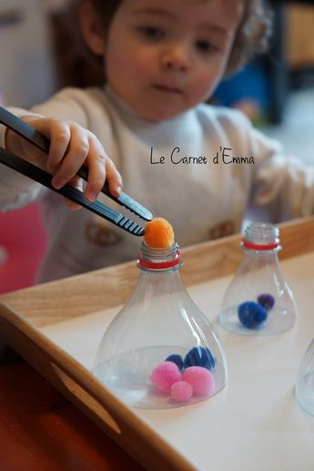 Fine motor ideas. Could be used to color sort