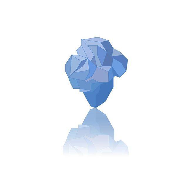 Jen tak cvičně.. ✒💡💻 #crystal #blue #graphic #design #graphicdesign #artwork #vectors #digital #fraktalion_design #justforfun #polygon