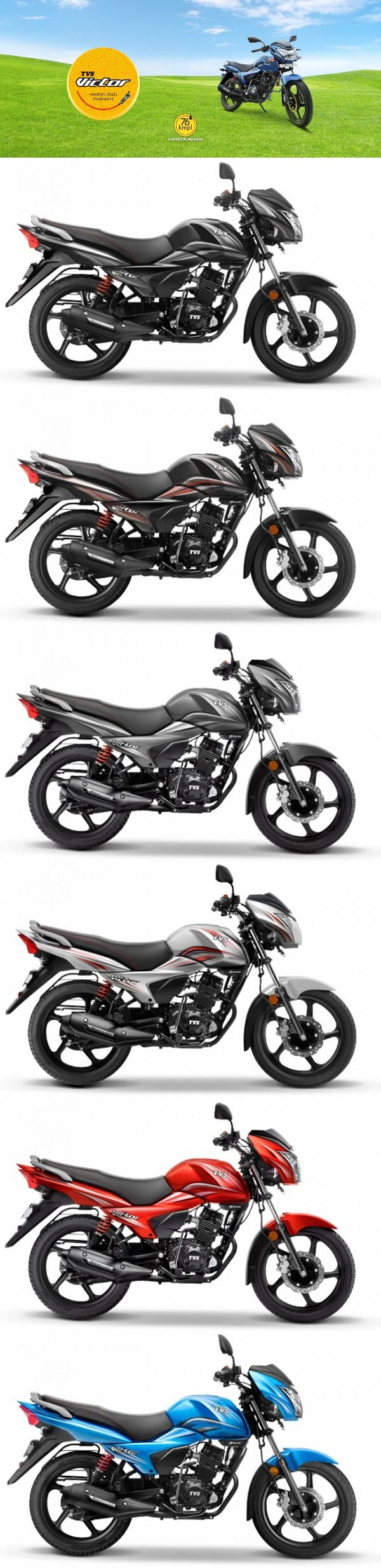 TVS Motor Company launched new 2016 #Victor, now take a long ride with this mileage efficient #bike . Details inside  #TVS