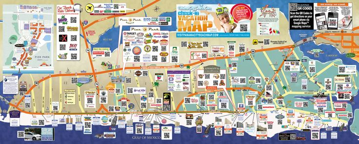 Tourist map of Panama City Beach To the Beach – Panama City Beach Tourist Map