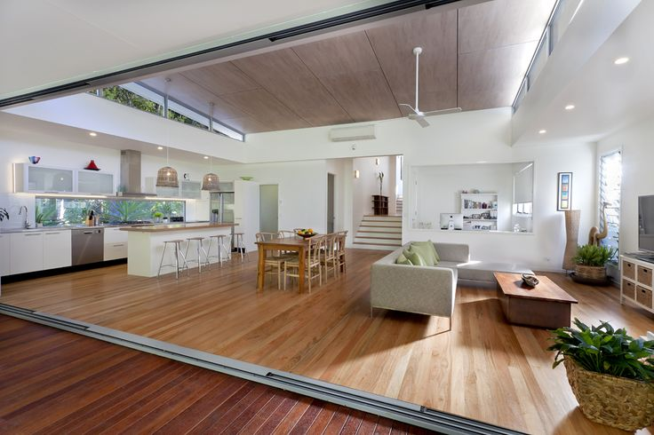"Open plan living - This is the ""feel"" we're after.....BIG, open, airy, natural light, high raked ceilings."