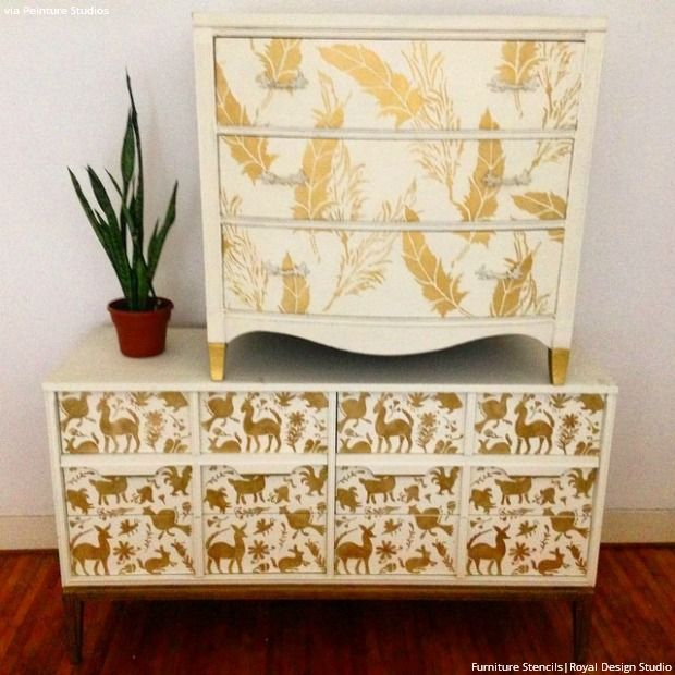 1000 images about stenciled and painted furniture on damask stencil stencil