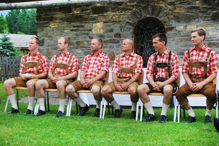 Austrian groomsmen