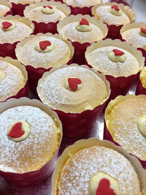 Hokkaido chiffon cupcake with custard cream