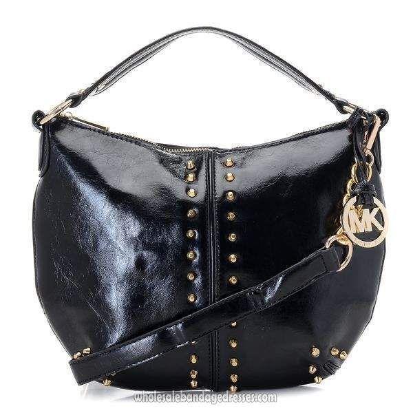 7c7190d80d03 Michael Kors Handbags MK 62 Series Shoulder Bags Rivet Black WBMKHB150074  #blackmkbag