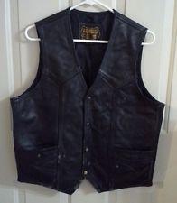 * Bonus * Μαύρο δέρμα Vest Μέγεθος 42