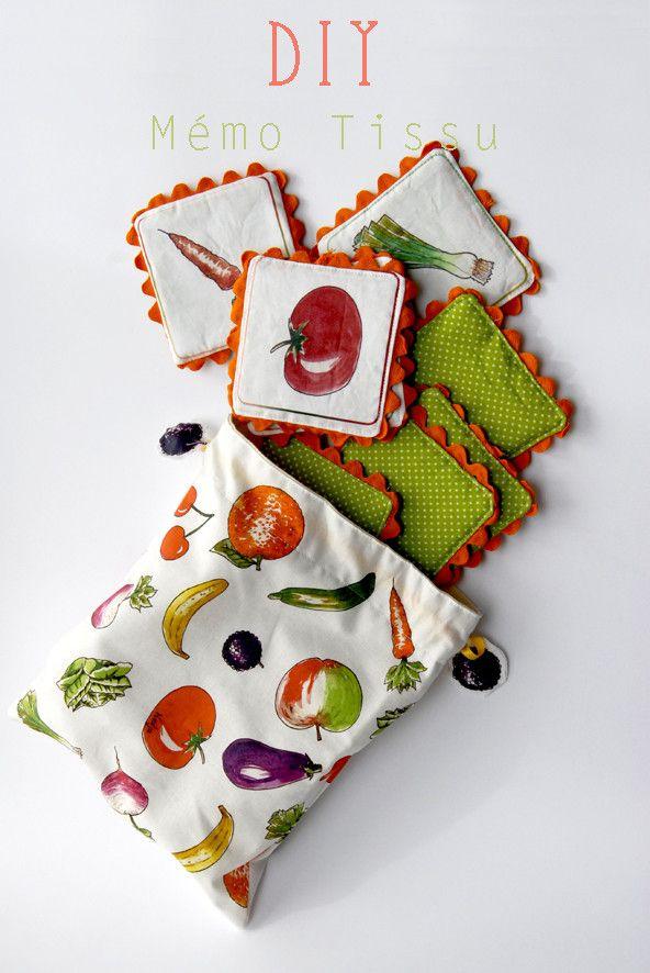 Une idée de Muriel qui avait participer à mon concours de tutoJ'ai utilisé les illustrations du mémo du marché que j'avais créé làpour le prototype   retrouvez le kit à coudre tout en tissu dan...