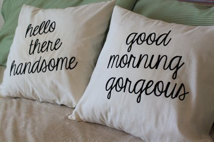cute master bedroom pillows