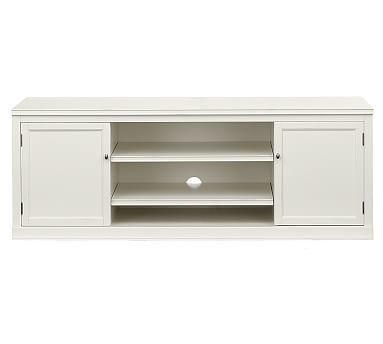 "Logan Large TV Stand, Antique White #62"" wide x 23"" deep x 22.5"" high Holds up to a 55"" flat-screen TV."