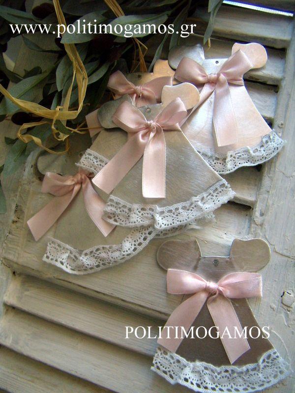Χειροποίητο μεταλλικό φορεματάκι | Ανθοδιακοσμήσεις | Χειροποίητες μπομπονιέρες και προσκλητήρια | Είδη γάμου και βάπτισης | Politimogamos.gr