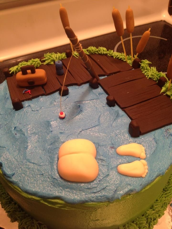 The lake cake by Cuppiecakes