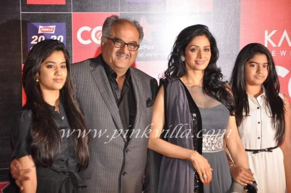 Sridevi, Boney Kapoor, Jhanvi & Khushi on the CCL red carpet