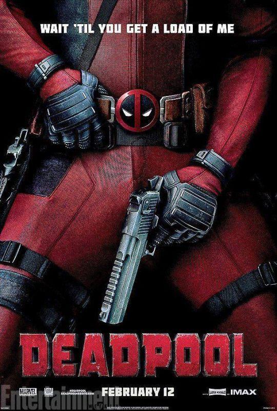 Deadpool movie poster.