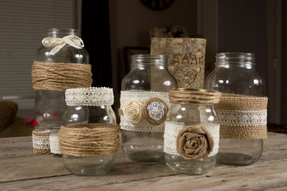 Hey, I found this really awesome Etsy listing at https://www.etsy.com/listing/163763653/set-of-2-small-and-3-large-mason-jar