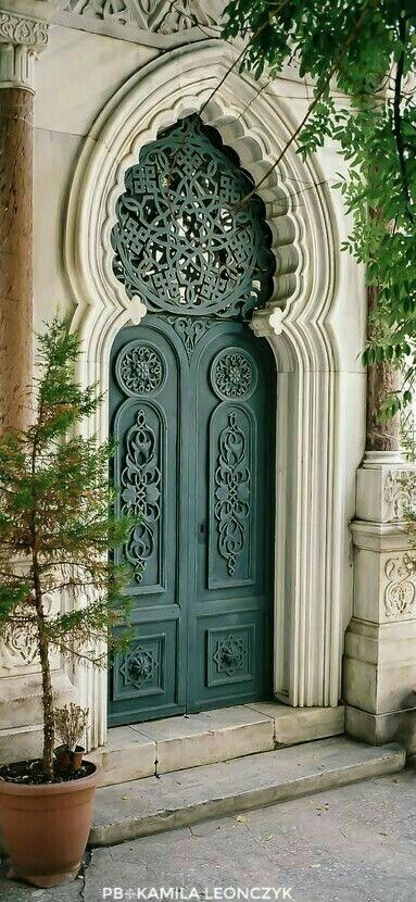 Intricately decorated Doorway