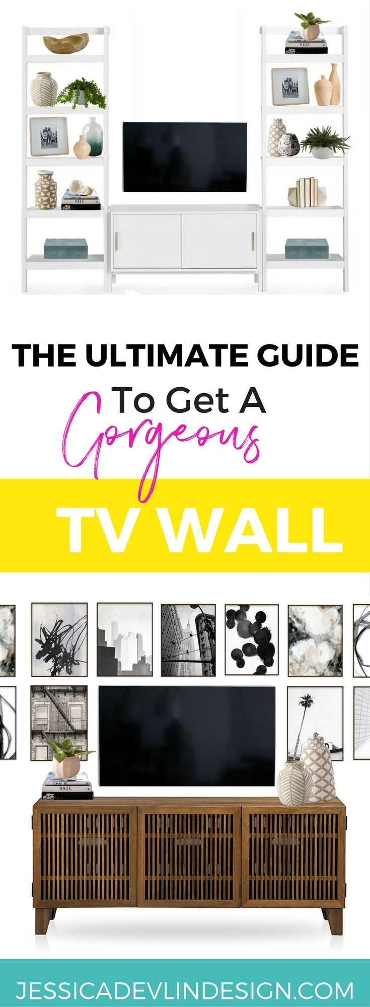 Creative ways to decorate around the TV. | For the Homieeee ...