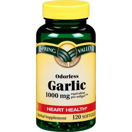 Spring Valley Odorless Garlic Softgels, 1000 mg, 120 ct