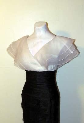 Stunning Vintage Black & White Curve Hugging by BeauMondeVintage, $89.00