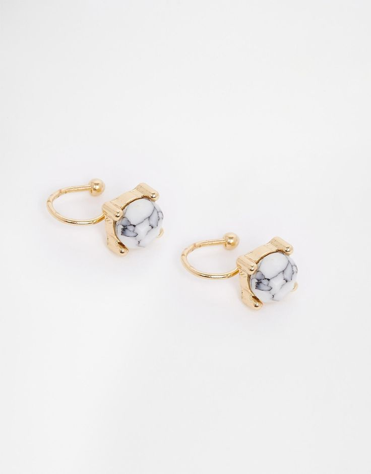 ASOS Semi Precious Pack of Two Anywhere Ear Cuffs - marble