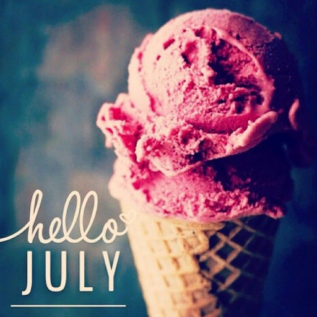 Hello July -- A great month to take a trip to the nearest ice cream shop.