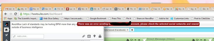 Not a classic errorprocessing.com failure - probably an API issue on the Hootsuite or LinkedIn end.